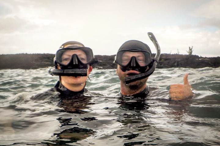 Snorkel en Chacahua. Foto: Peter Swaine.